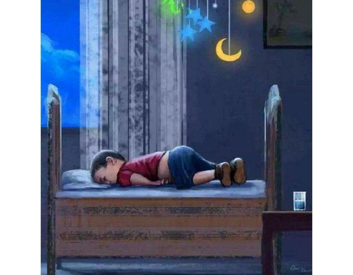 Child Aylan Kurdi asleep