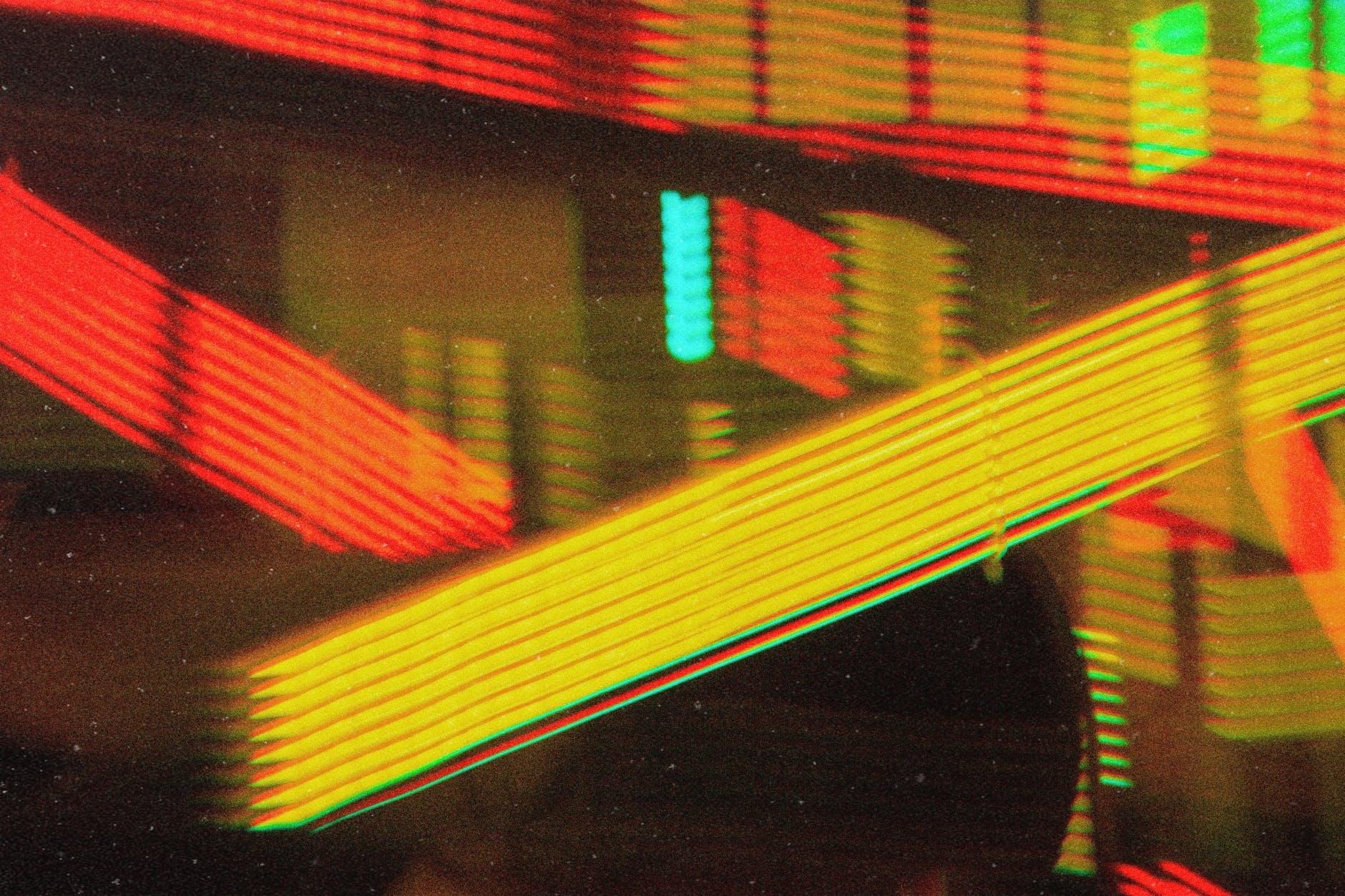 orange and yellow neon lights